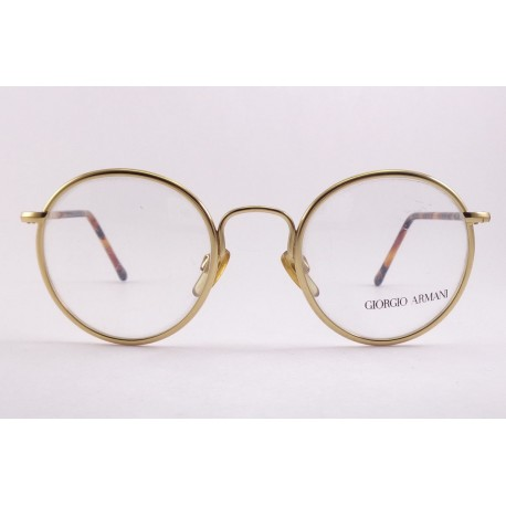 Giotgio Armani 140 montature occhiali da vista vintage tondi colore oro