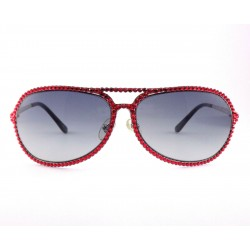 Sunglasses aviator woman Jimmy Crystal 946 color red with strass
