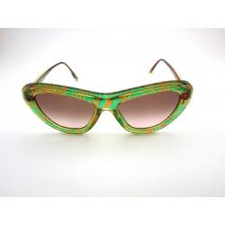 Occhiale da sole vintage CHRISTIAN LACROIX 7367/60 - Verde, oro e rosso