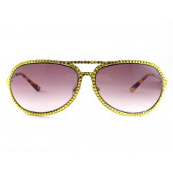 Sunglasses Jimmy Crystal 946 with strass color yellow