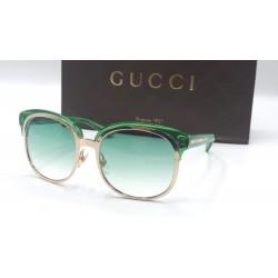 Gucci 4241 occhiali da sole donna Made in Italy colore verde trasparente oro