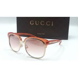 Gucci 4241 occhiali da sole donna Made in Italy colore rosa trasparente oro
